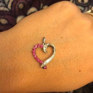Jewelry - Beautiful pink sapphire and white sapphire heart